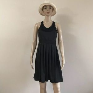 ANN TAYLOR FLARE MINI DRESS  SLEEVLESS NECK TIE